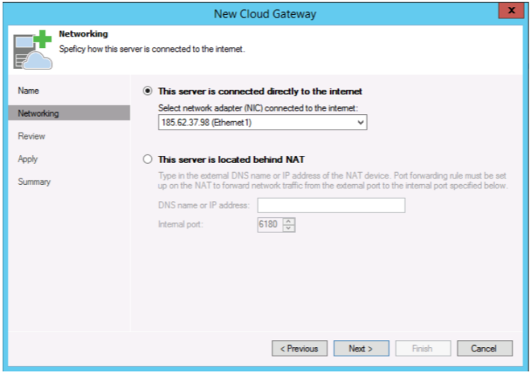 veeam cloud connect to private cloud